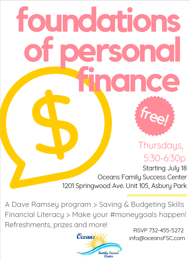 Foundations of Personal Finance, Dave Ramsey Program, starts in July