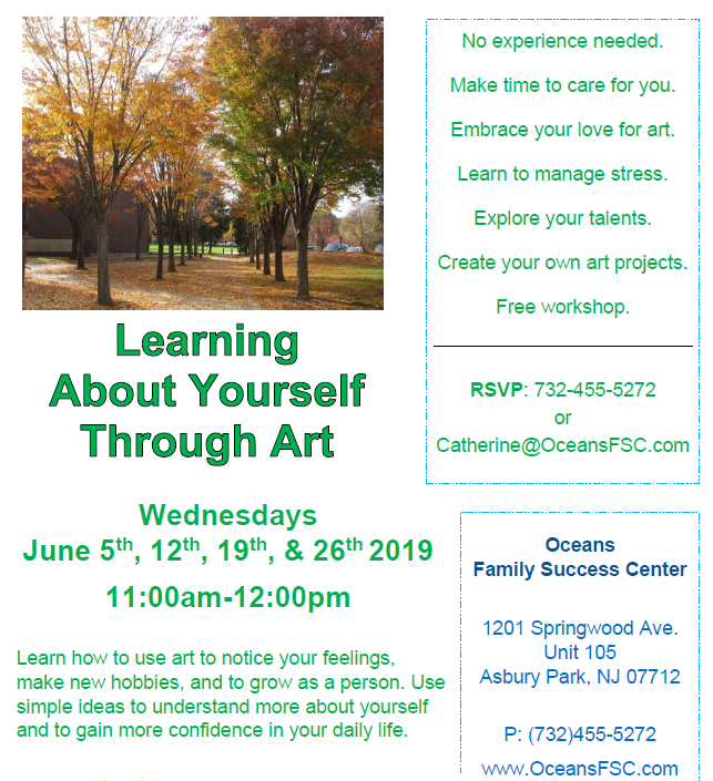 Learning About Yourself Through Art, Wednesdays in June