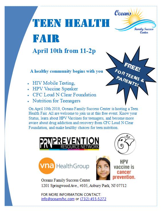 Teen Health Fair April 10