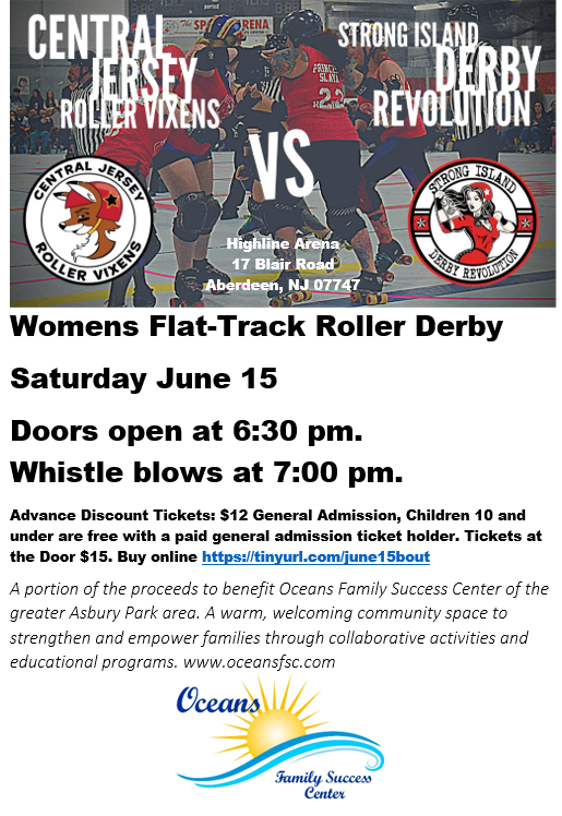 Fundraiser with local roller derby league