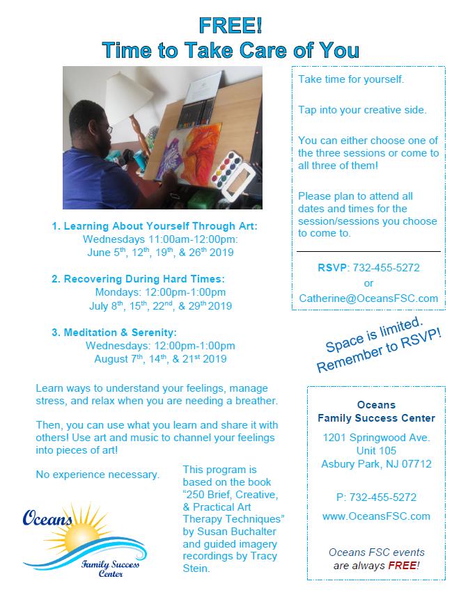 Summer workshops focus on stress, creativity, meditation