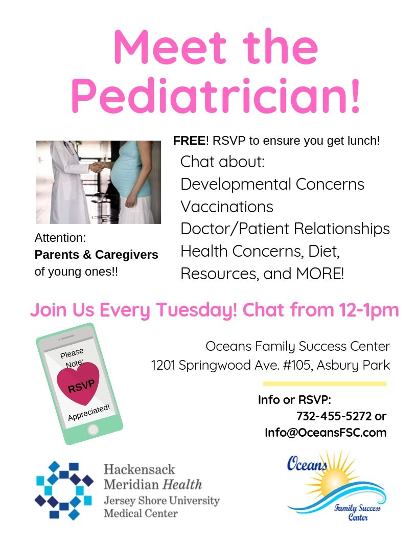 Meet with a Pediatrician and chat about your concerns!